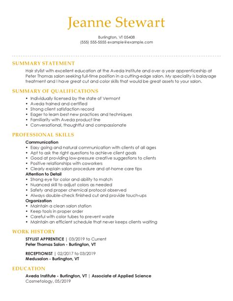 Resume Sample Resume Junior Hair Stylist hairdresser resume examples example and free maker freelance hair stylist pdf downlaod sample resume