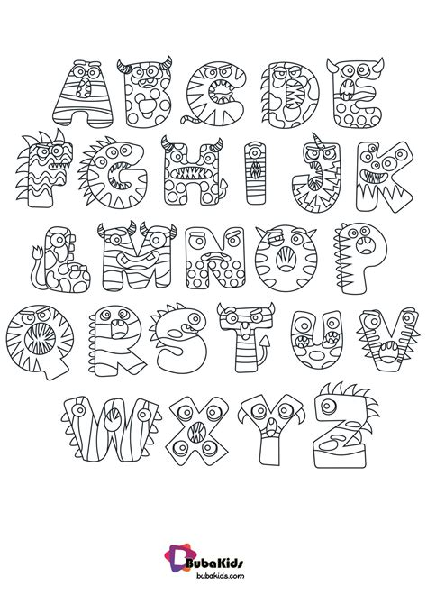 Halloween Alphabet Coloring Pages Download Printable