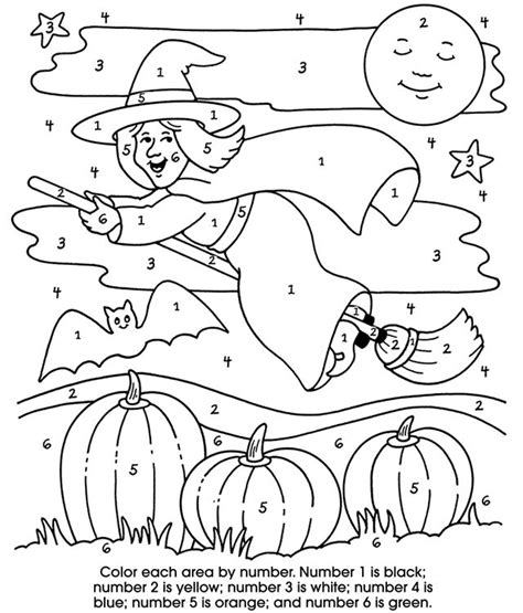 Halloween Coloring Pages Color by Numbers