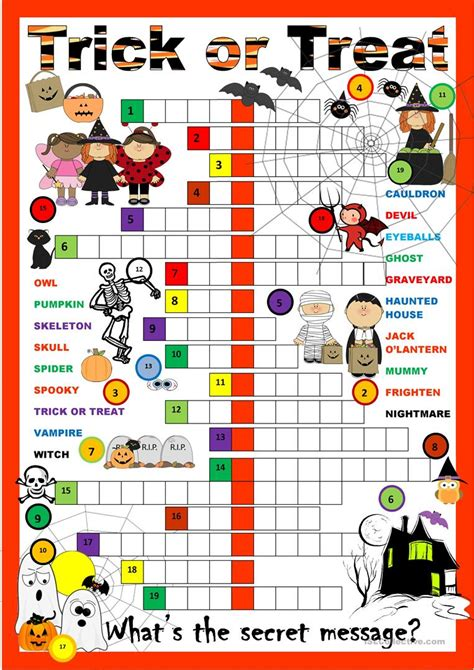 Halloween Word Searches Crosswords and Games for Kids