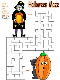 Halloween Worksheets for Children dltk holidays