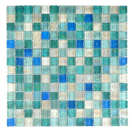 Hammered Pearl Aqua Mosaic Tile Topps Tiles