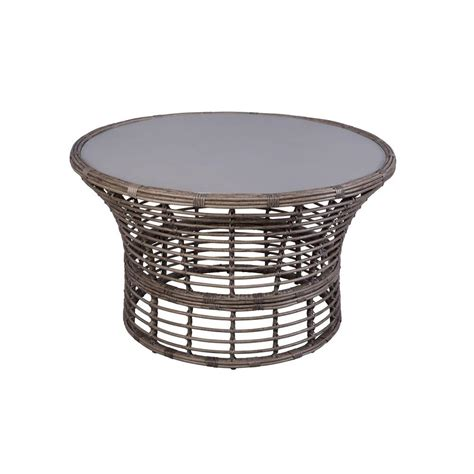 Hampton Bay Cane Crossing All weather Wicker 44 In Round