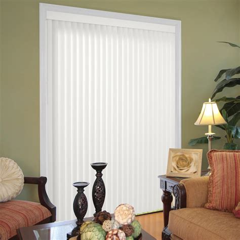 Hampton Bay Crown Cottage White 3 5 in Vertical Blind