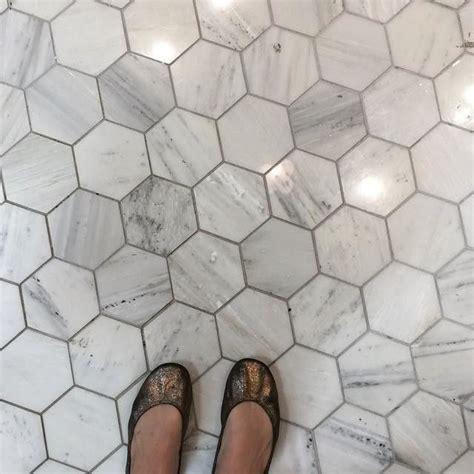 Hampton Carrara Hex Marble Mosaic Tile 5 x 5 in The