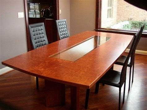 Hand Crafted Burlwood Dining Table by Mark Wilson