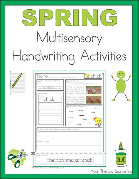 Handwriting Worksheets and Handwriting Based Activities