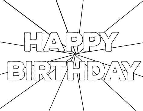 Happy Birthday Coloring Pages ColorWithFuzzy