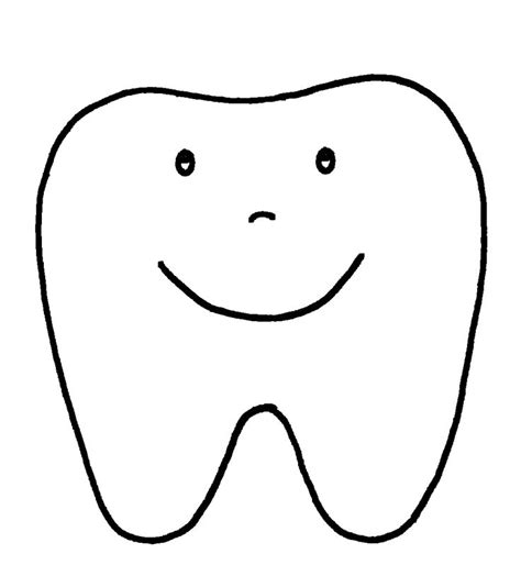 Happy Tooth Pattern or Coloring Page A to Z Teacher