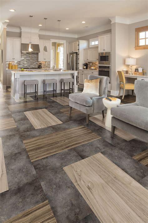 Hardwood And Tile Combination Flooring