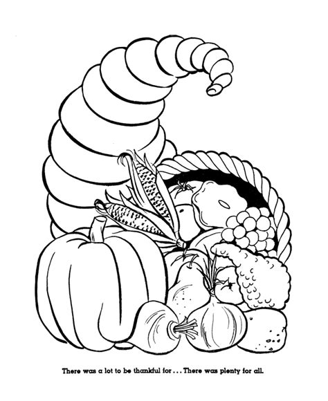 Harvest Coloring Pages Thanksgiving Color Sheets for Kids