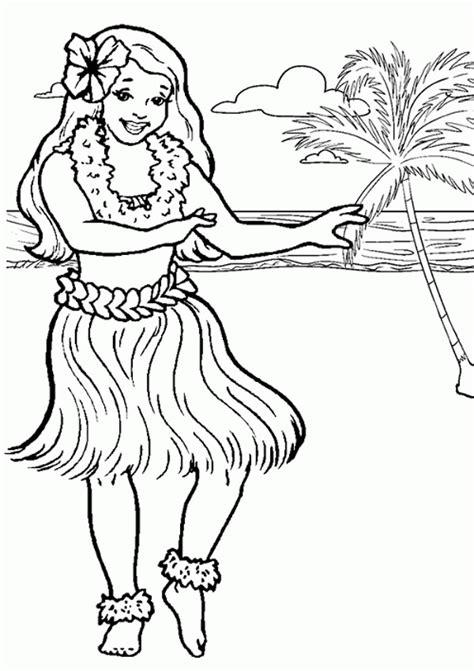 Hawaiian Girl coloring page Free Printable Coloring Pages