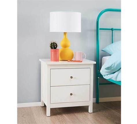 Hayman 2 Drawer White Bedside Table Bedroom Bedroom