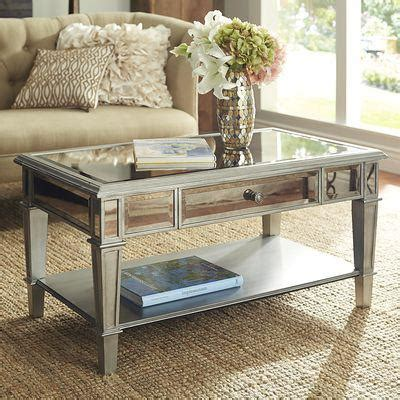 Hayworth Mirrored Silver Coffee Table Pier 1 Imports