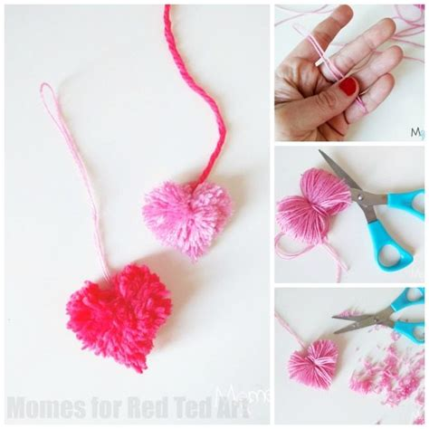 Heart Pom Poms How To Red Ted Art s Blog