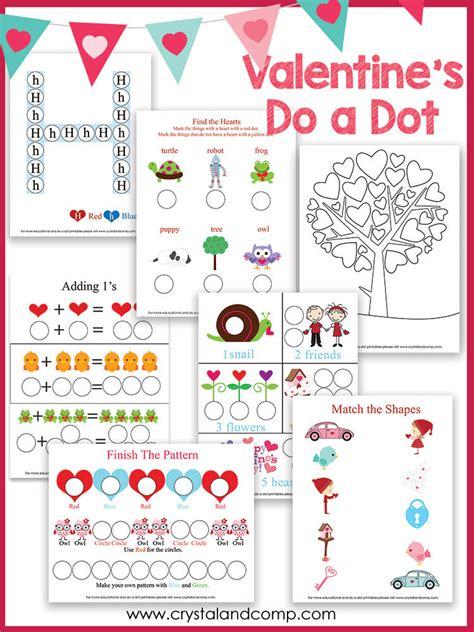 Heart Shaped Do a Dot Printables CrystalandComp