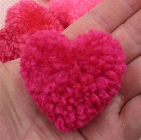 Heart pom pom Etsy