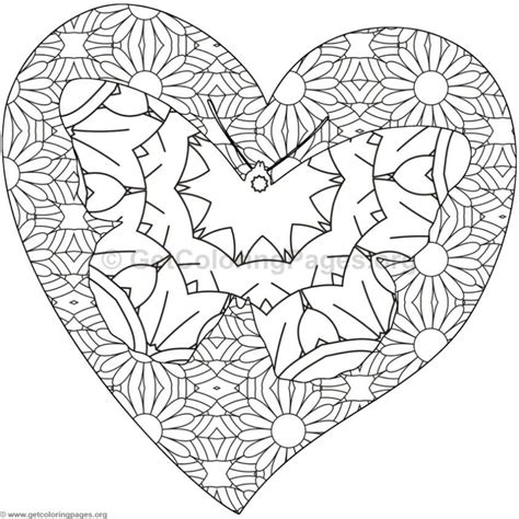 Hearts Coloring Pages GetColoringPages