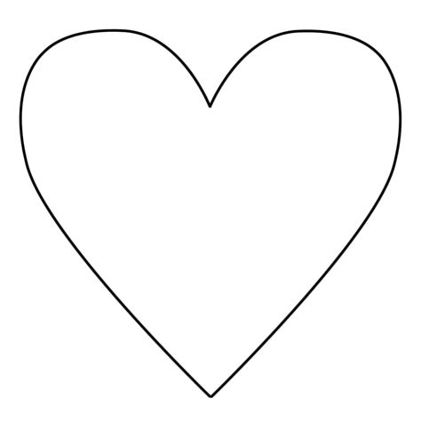 Hearts Printable Templates Coloring Pages