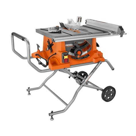 Heavy Duty 10 in Portable Table Saw With Stand RIDGID