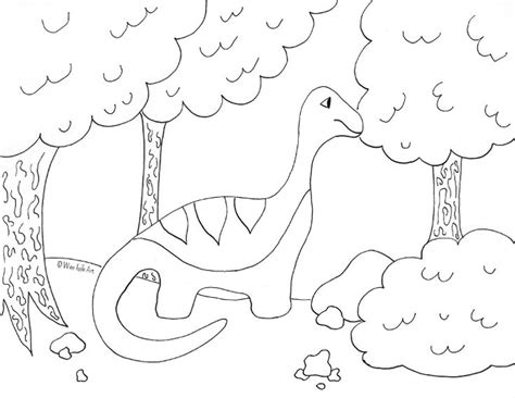 Here Is Our Apatosaurus Coloring Page Based On Our