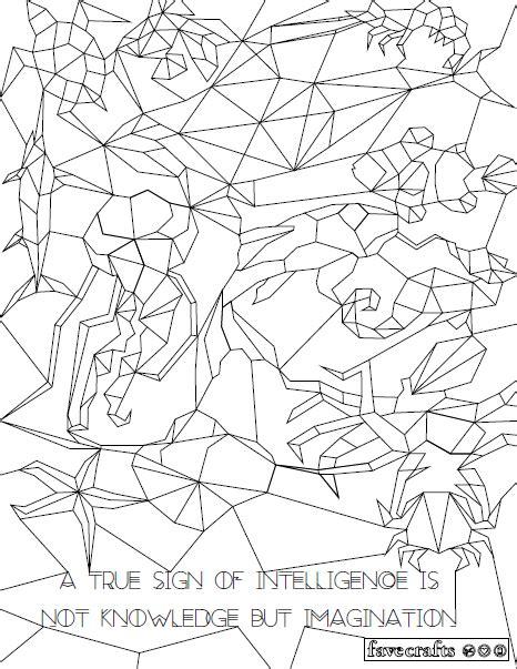 Hidden Aquatics Geometric Coloring Page FaveCrafts