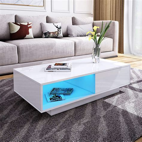 High Gloss Coffee Tables Black White Furniture in