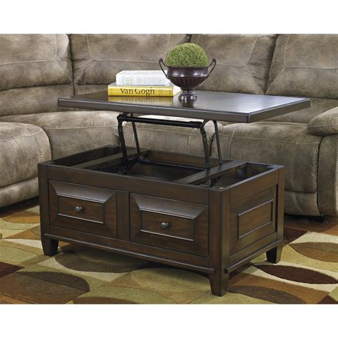 Hindell Park Coffee Table with Lift Top Ashley Furniture