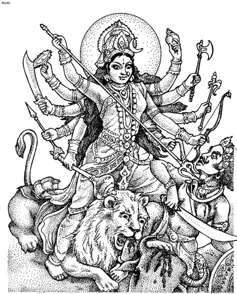 Hindu gods coloring pages Free Printable Pictures