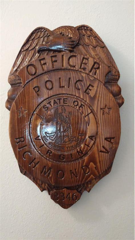 HipShot Wood Carving Hand Carved Police Badges Shields