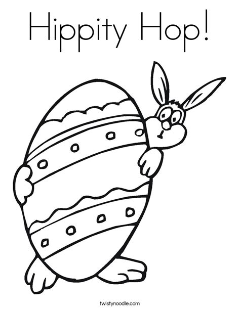 Hippity Hop Coloring Page Twisty Noodle