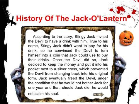 History of the Jack O Lantern Halloween HISTORY