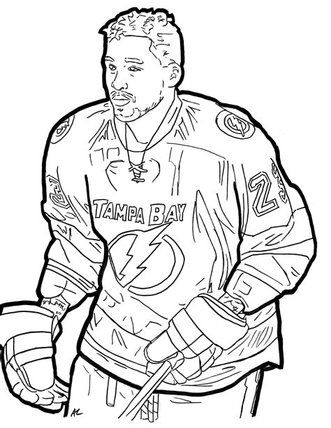 Hockey Coloring Pages Color Me Good