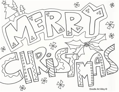 Holiday Coloring Pages Doodle Art Alley