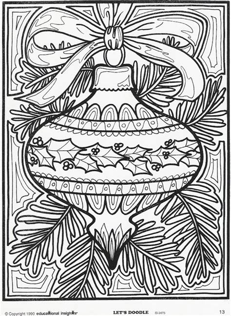 Holiday coloring book pages