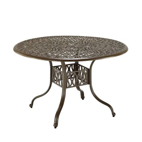 Home Styles 48 in Taupe Patio Round Dining Table 5559 32