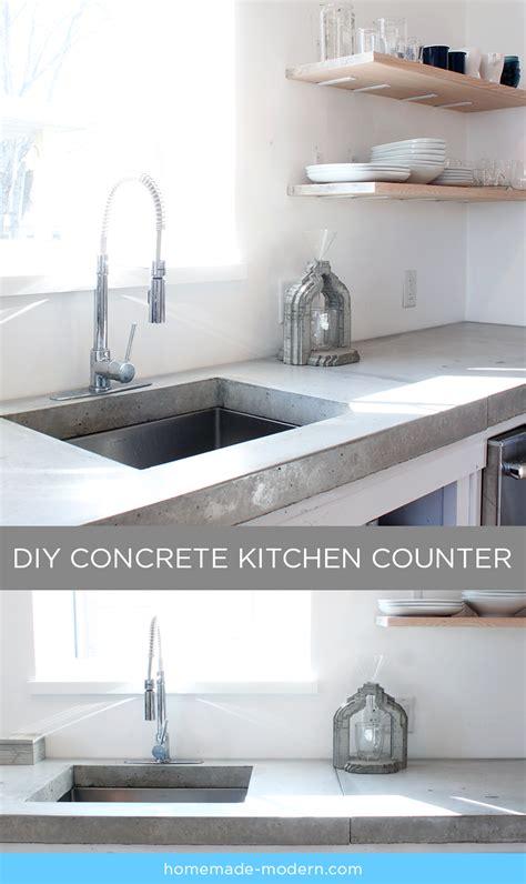 HomeMade Modern EP87 Concrete Kitchen Countertops