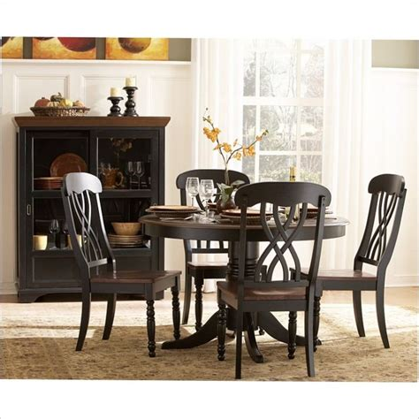 Homelegance Ohana 5 Piece Round Dining Table Set