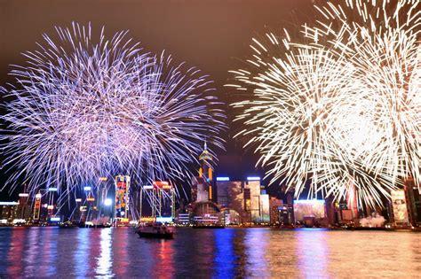 Hong Kong Chinese New Year Firework Performance 2017