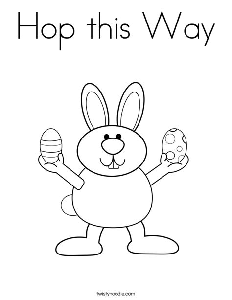 Hop this way Coloring Page Twisty Noodle