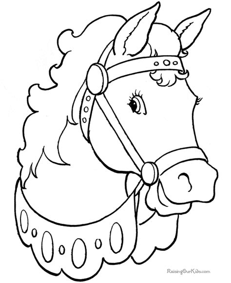 Horse Coloring Pages Raising Our Kids