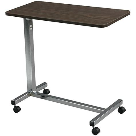 Hospital OverBed Table Non Tilt Rolling Adjustable Height