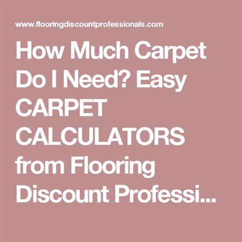 How Much Carpet Do I Need Easy CARPET CALCULATORS from