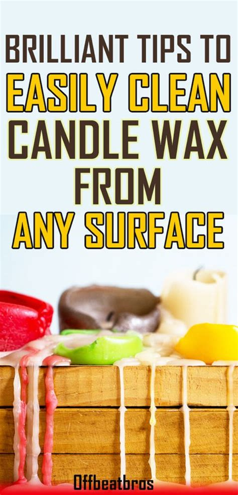 How To Clean Up Candle Wax Remove Candle Wax from