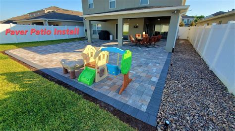 How To Design and Install A Paver Patio YouTube