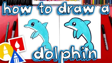 How To Draw A Dolphin Art For Kids Hub