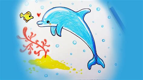 How To Draw A Dolphin easy drawings and sketches