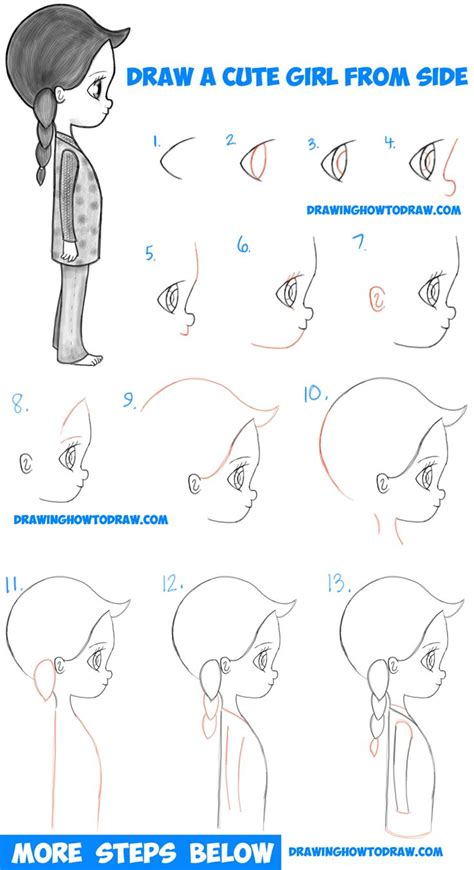 How To Draw A Girl Step By Step Tutorial