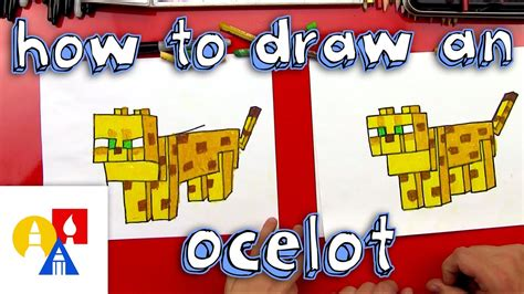 How To Draw A Minecraft Ocelot YouTube