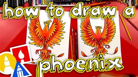 How To Draw A Phoenix Art For Kids Hub Phoenix and